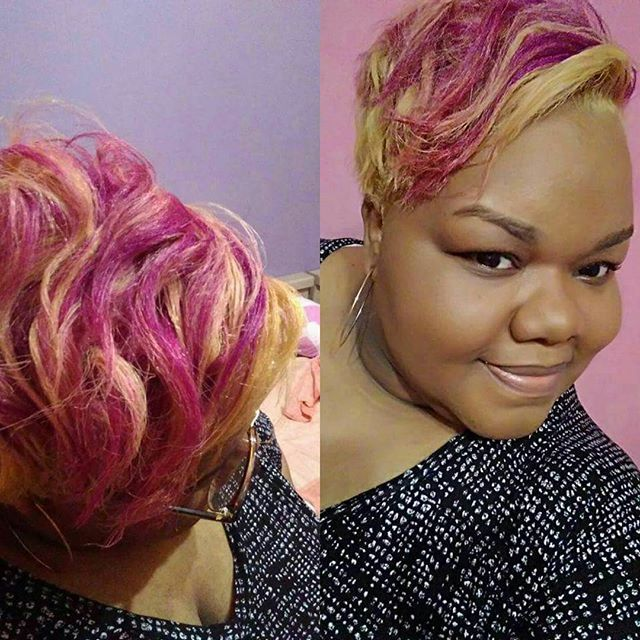 Top 100 partial highlights photos | #olaplex #ruskdirectcolor #pink #partialhighlights #cut #love what I do. 💇