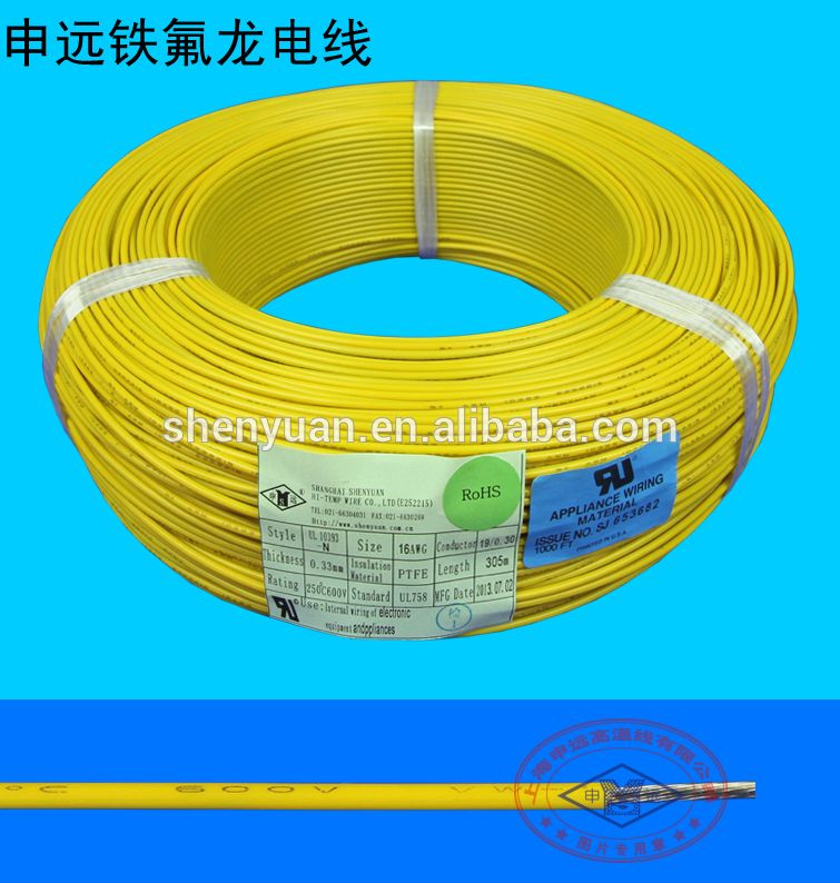 UL10393 high temp. resistant wire 2 4 6 8 AWG teflon cable | alibaba ...