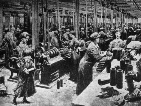 World War I, Women Working in a British Munitions Factory, 1915 ...