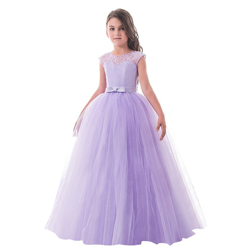 6-14 Years Kid Girl Summer Dresses Children\'s Formal Wedding ...