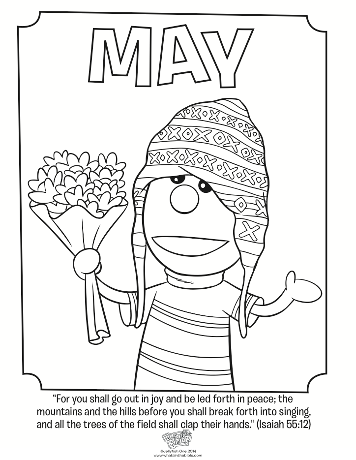 may coloring page isaiah 5512 whats in the bible - Isaiah Coloring Pages For Kids