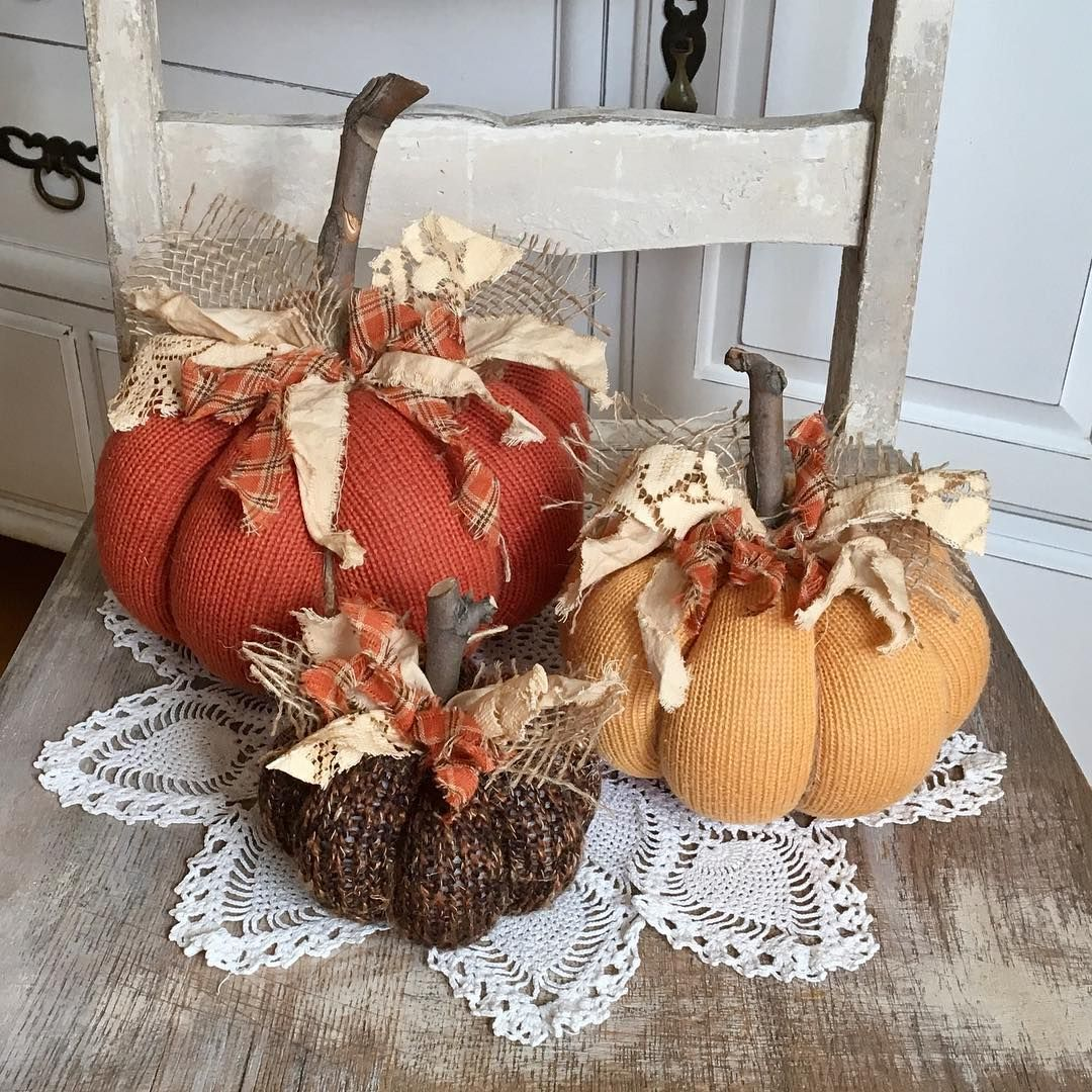 Decorazioni Per L Autunno beautiful fall colored sweater pumpkins! in my etsy shop now
