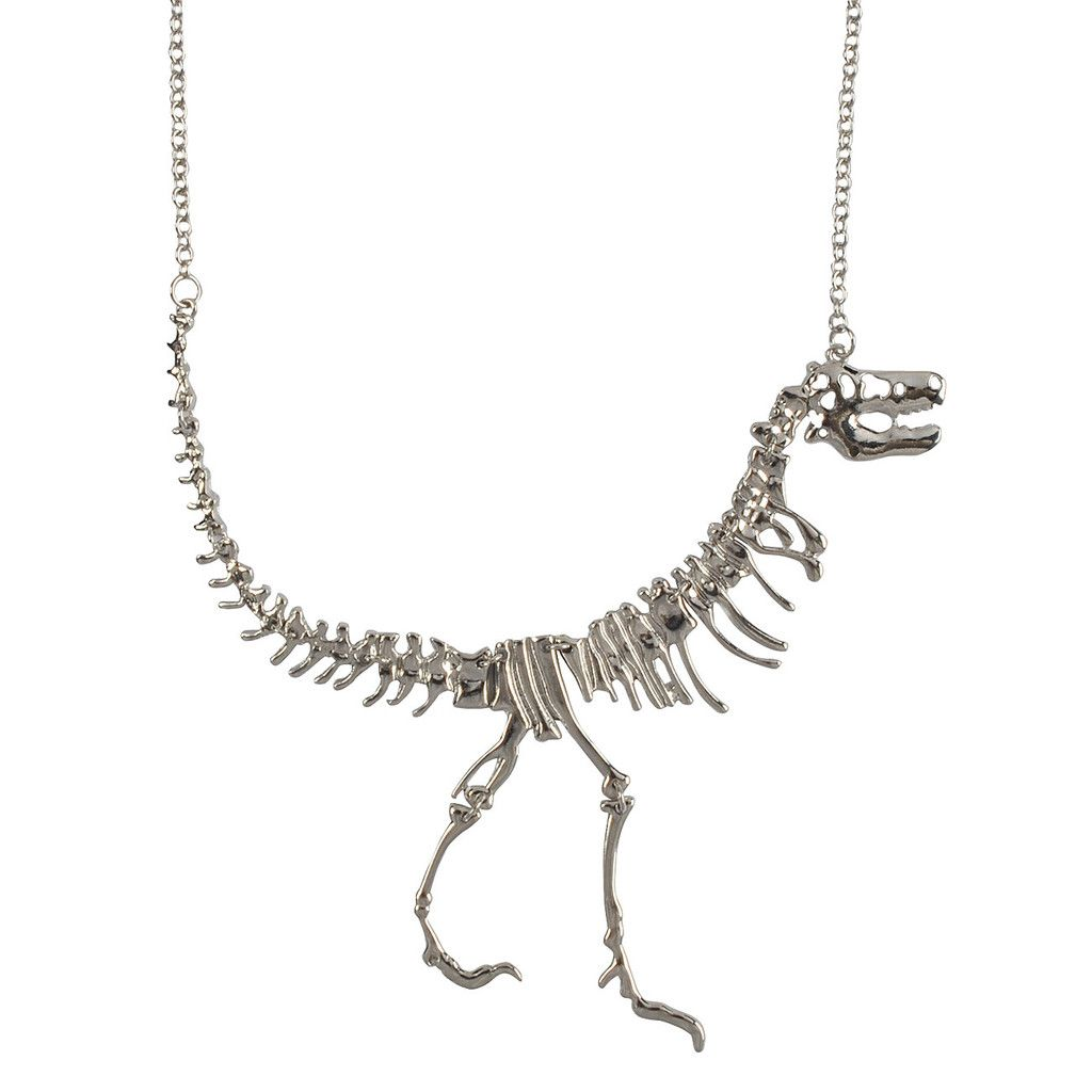 Dinosaur Necklace Fossil Pendant Jewelry Jane Stone 1st Choice Gold 2nd Choice Antique Bronze With Images Dinosaur Necklace Statement Jewelry Necklace Skeleton Necklace