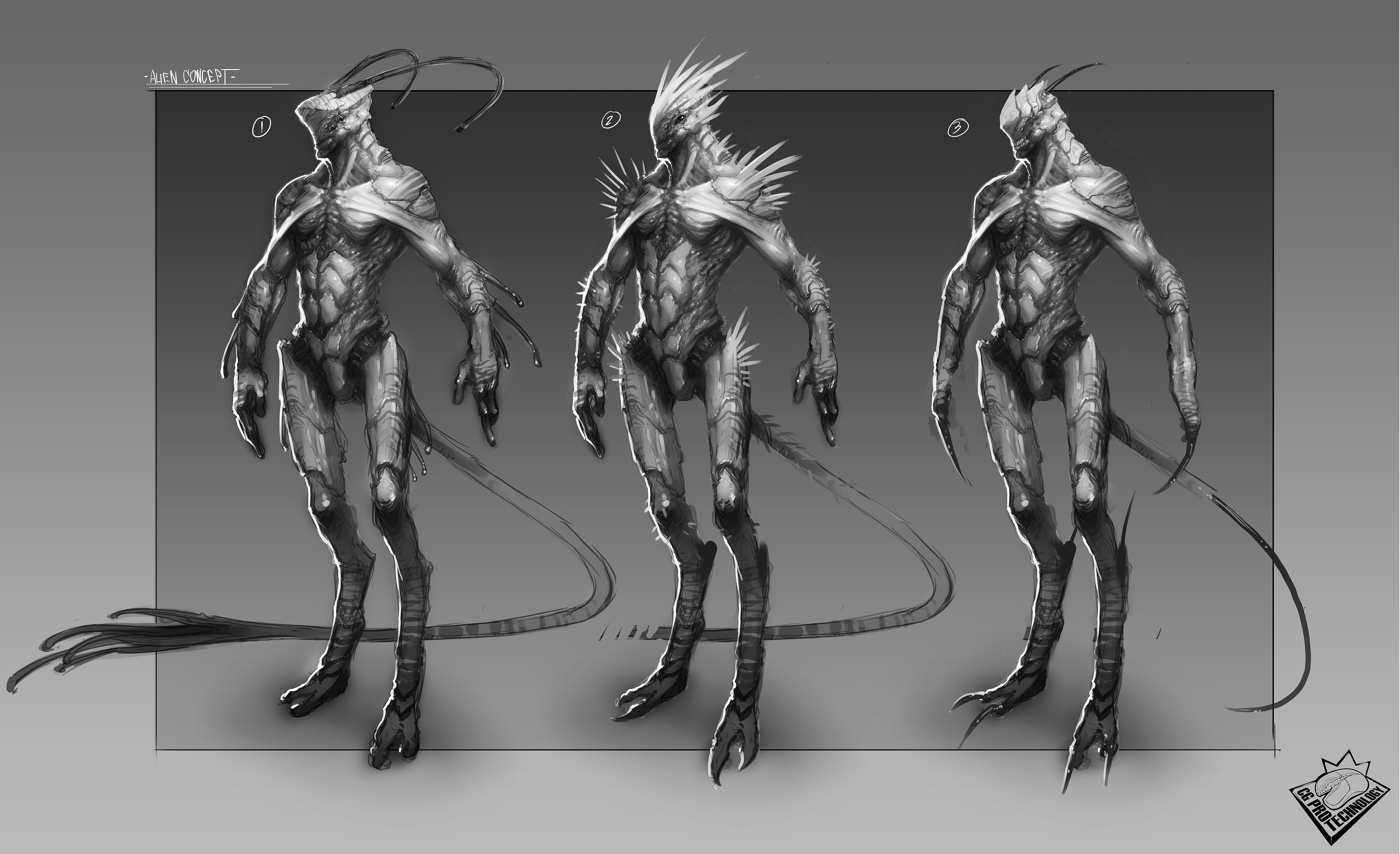 Gallery For gt Humanoid Alien Concept Art