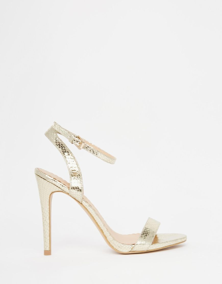 Buy Women Shoes / Head Over Heels By Dune Madame Silver Barely There Heeled Sandals