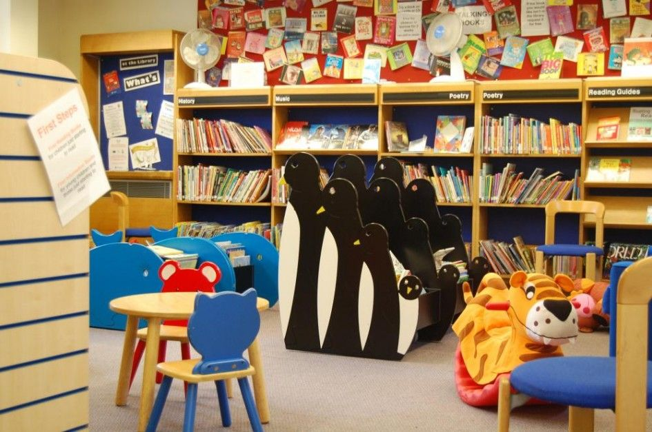 LIbrary Design Children Library Concept With Animal Themes Interior And Small Kids Furniture