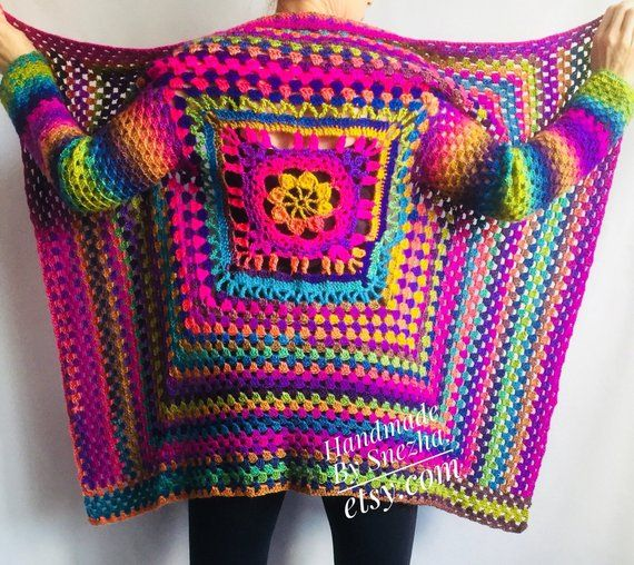 Rainbow Cardigan, Rainbow Sweater, Hand Knit Sweater, Sweater Women, Cardigan Oversized, Oversized Sweater, Hippie Sweater, Plus Size Oversized, Rainbow Clothing, Rainbow Sweater Wool, Hand Knit Cardigan, Gradient Sweater, Rainbow Shawl A rainbow clothing is an absolute trend in any