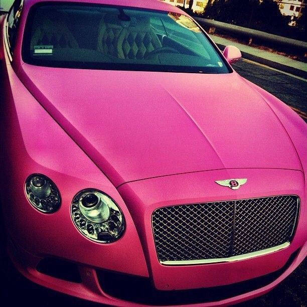 One For The Ladies Bentley Continental Gt Pink: Luscious Pink Bentley Continental GT