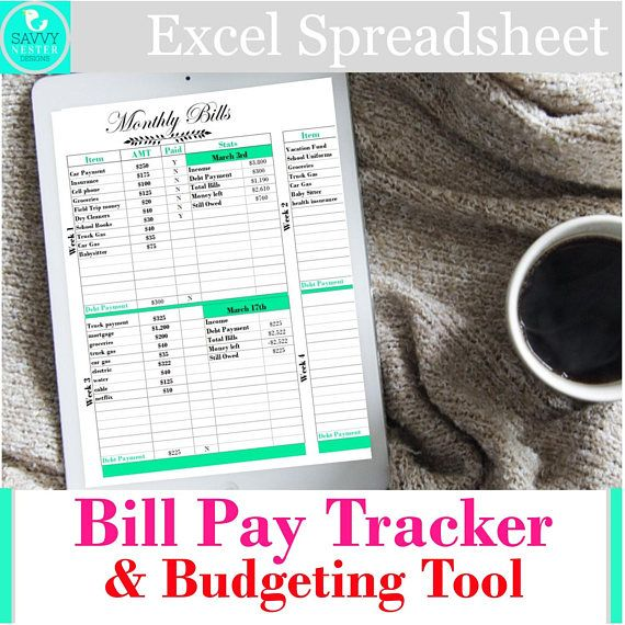 Excel household financial expense planner budget income Savvy