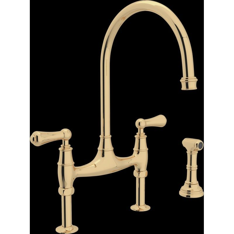 Rohl U 4719l 2 Perrin And Rowe Bridge Kitchen Faucet With Side