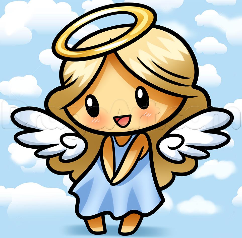 Нарисованная картинка ангел