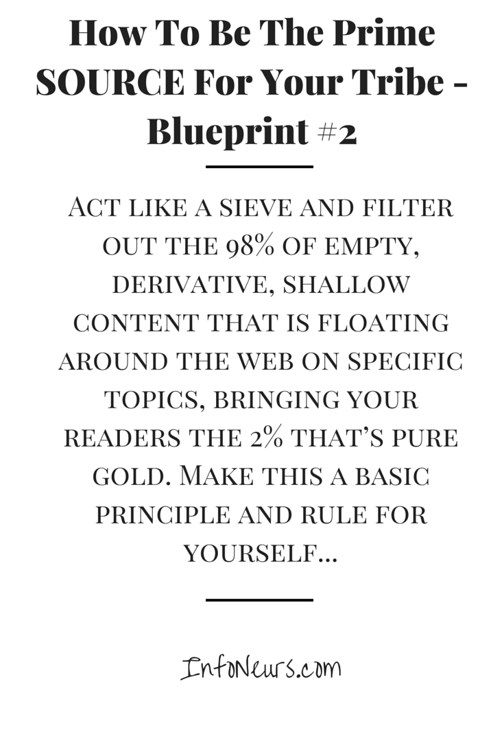 How to be the prime source for your tribe blueprint 2 http discover ideas about blueprint 2 malvernweather Images
