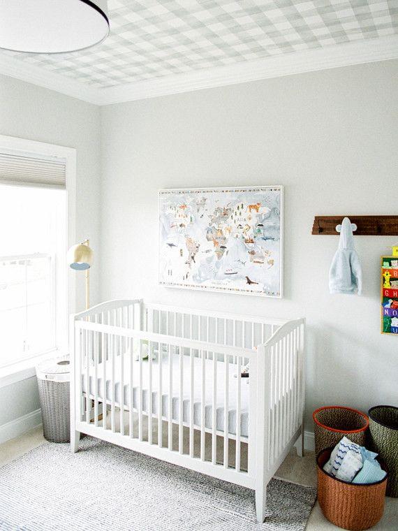 Modern Baby Boy Room: Classic Modern Boy's Nursery And Newborn Photos In