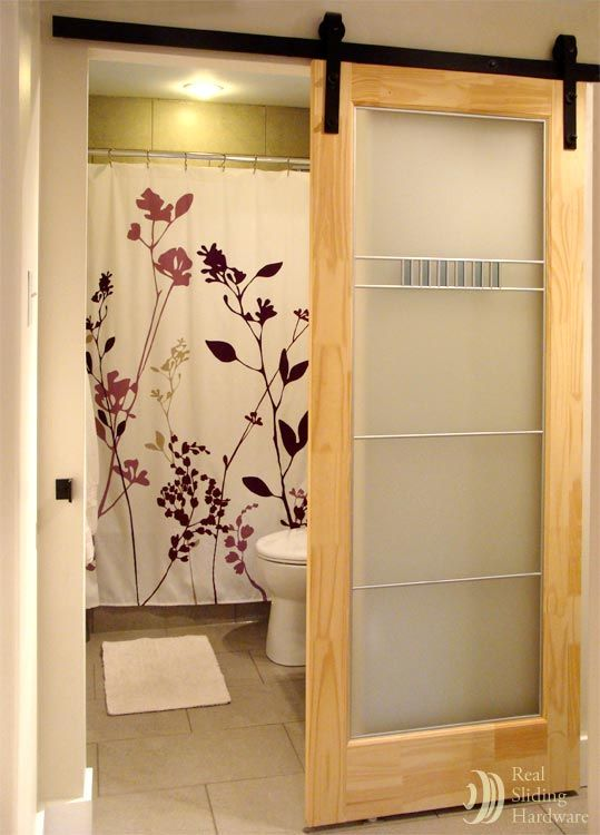 Space Saving Sliding Barn Door  For The Home  Pinterest Amusing Barn Door For Bathroom Inspiration