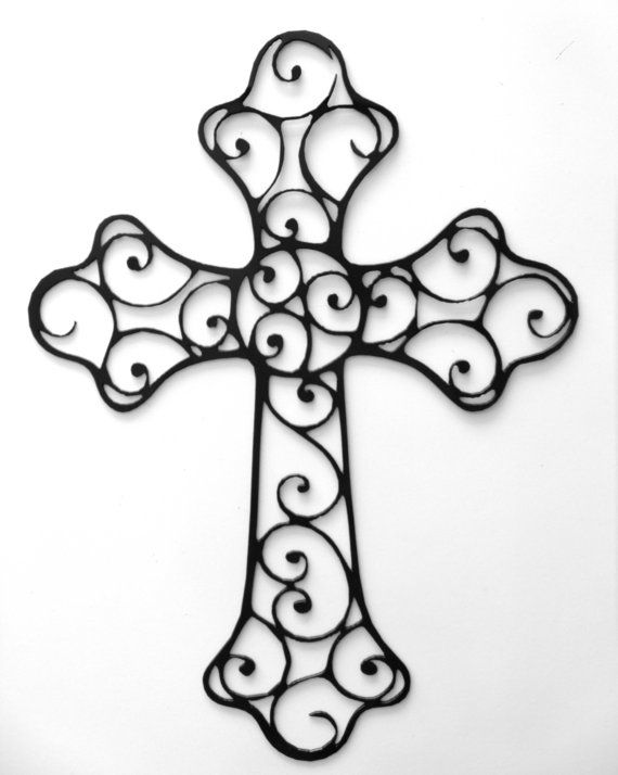 beautifully detailed decorative metal cross by rillabee on etsy 6500 - Decorative Cross