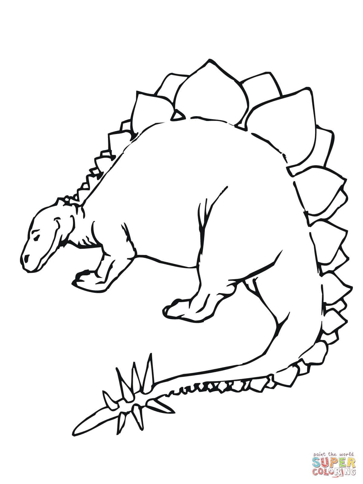 Stegosaurus Jurassic Dinosaur Coloring Page Free Printable Coloring Pages Dinosaur Coloring Pages Dinosaur Coloring Animal Coloring Pages