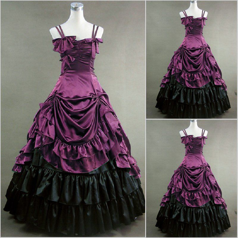 Freeship Victorian Corset Gothic/Civil War Southern Belle Ball Gown ...