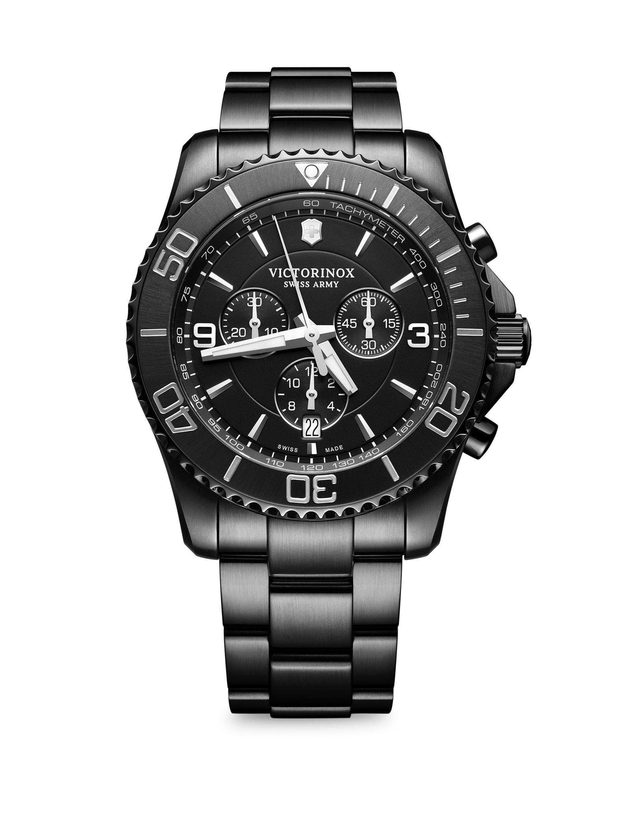 Maverick Pvd Stainless Steel Bracelet Watch By Victorinox