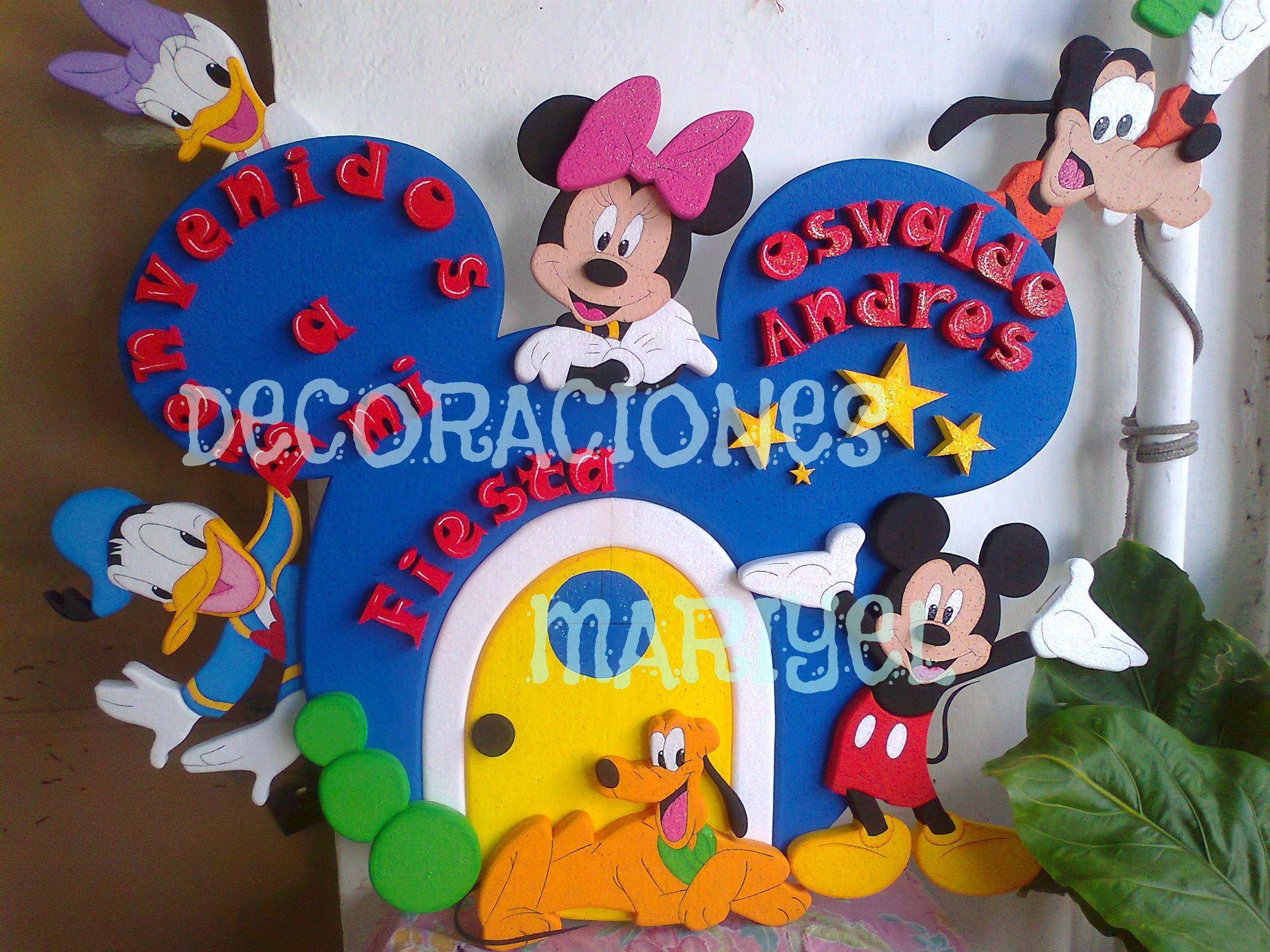 Decoraciones de marcos en anime para fiestas infantiles - Decoracion para fiestas infantiles mickey mouse ...