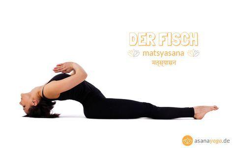 yoga fisch matsyasana  tief einatmen  entspannen