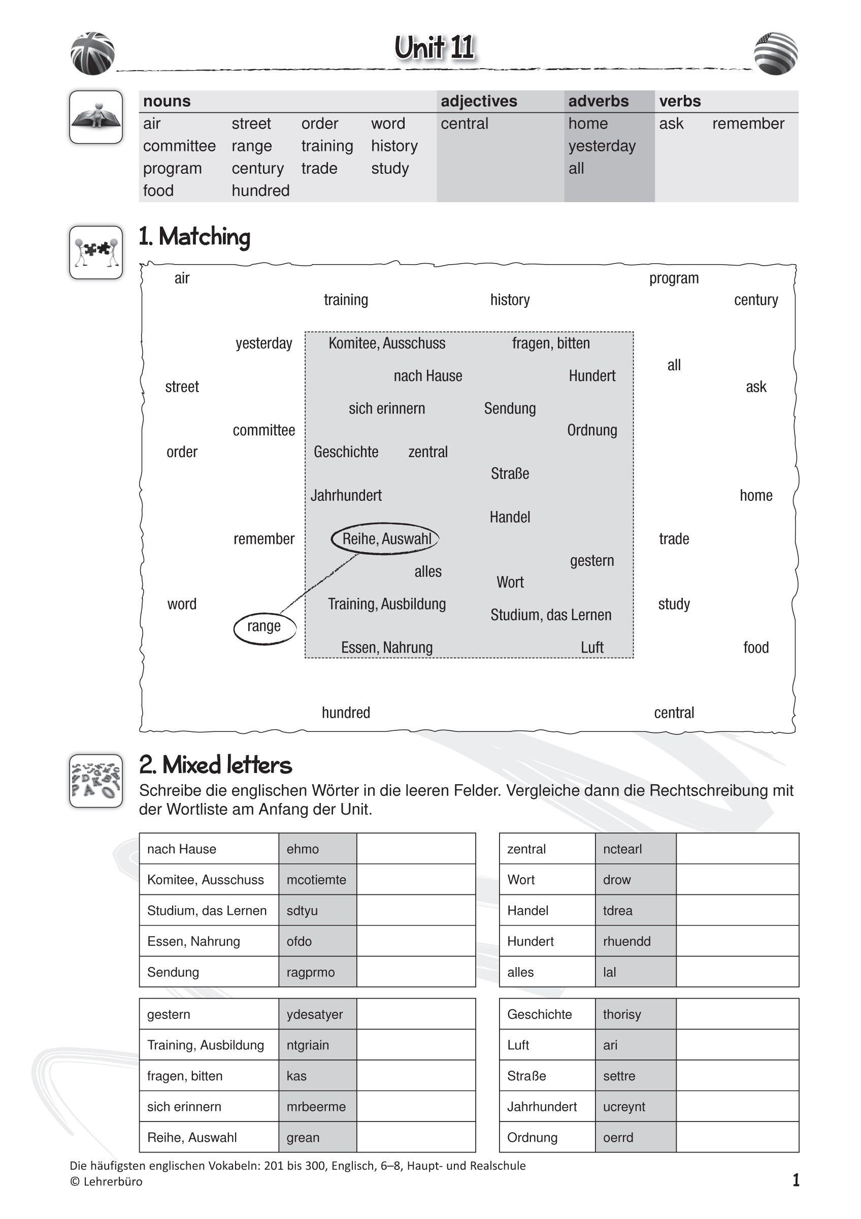25 Englisch Arbeitsblatter Klasse 3 Zum Ausdrucken