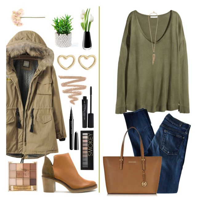 """""""Date To the Movies"""" by panda-matowi0715 ❤ liked on Polyvore featuring H&M, 7 For All Mankind, Michael Kors, Miista, Forever 21, Marc Jacobs, Smashbox, Marc by Marc Jacobs, Roberto Cavalli and LSA International"""