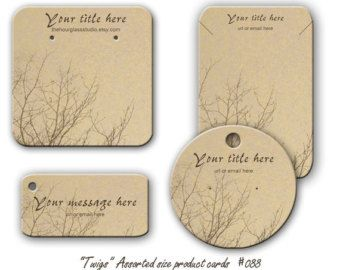 Jewelry Cards Earring Display 088 Necklace Bracelet Tags Twigs Product Personalized
