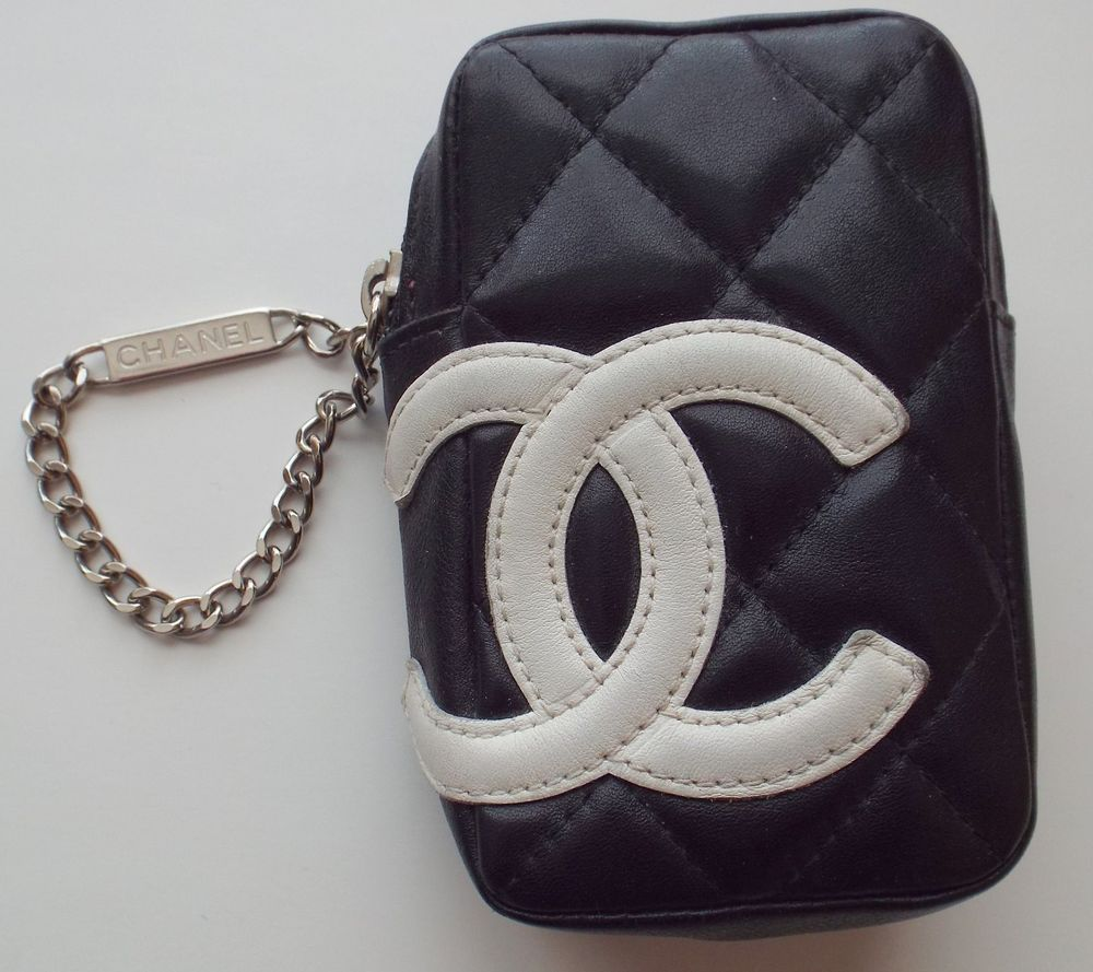 bd08e07bd2c5 Authentic CHANEL Quilted Black Calf Skin Mini Belt Bag/Phone Case #CHANEL  #Beltbagphonecase
