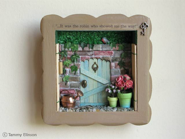 box frame - add dolls house items to create a Beatrix Potter ...
