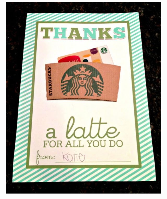 create a thank you card  teacher favorite things