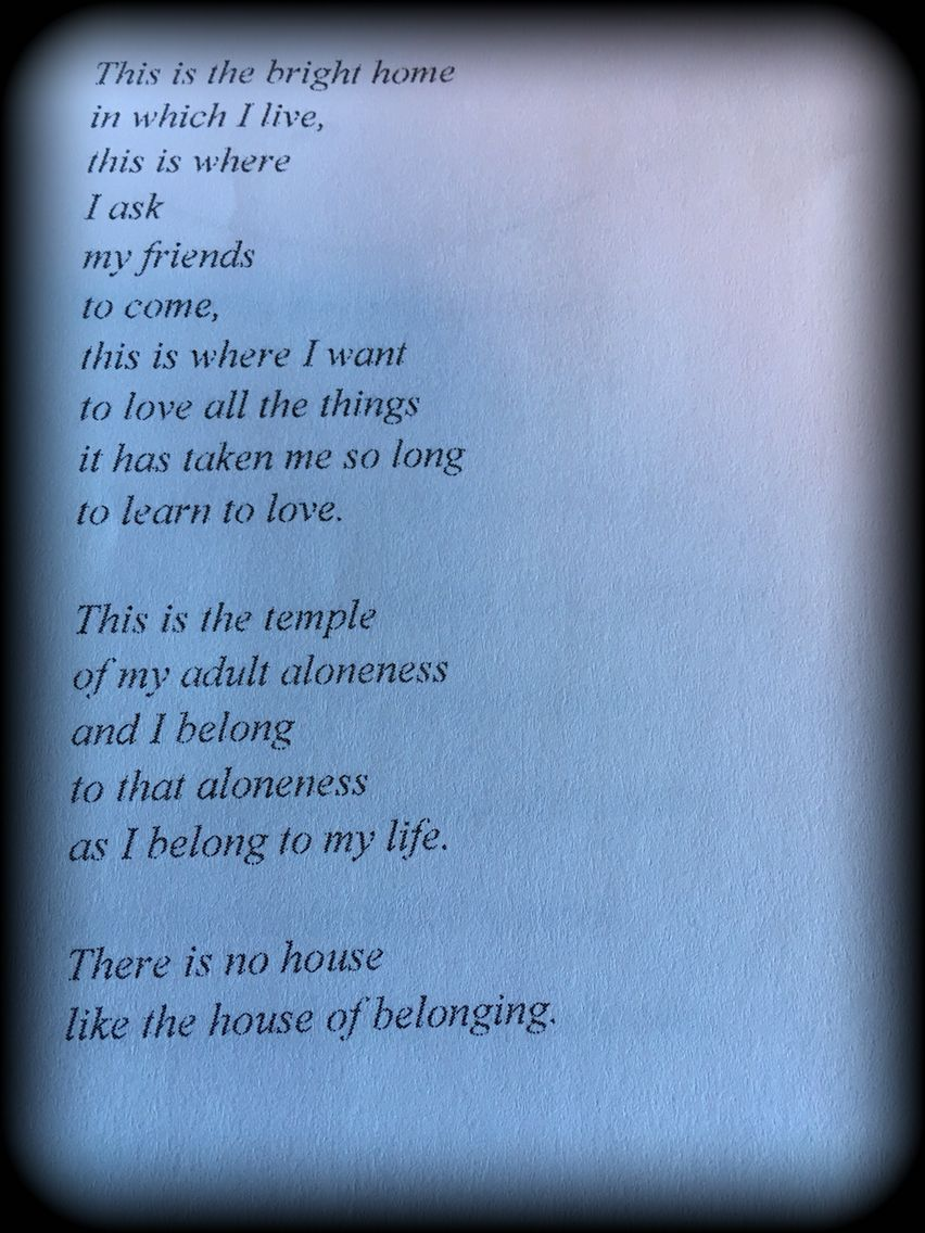 Excerpt From David Whyte S House Of Belonging Meaningful Words