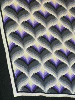 Light in the Valley bargello quilt (88 pieces) I love the 3-D effect caused by the colour order!