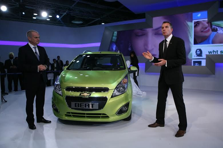 Chevrolet Beat Facelift Launched At 2014 Auto Expo Chevrolet