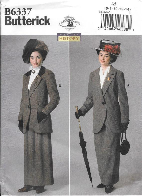 The Music Man - Butterick 6337 UNCUT Early 1900s Misses