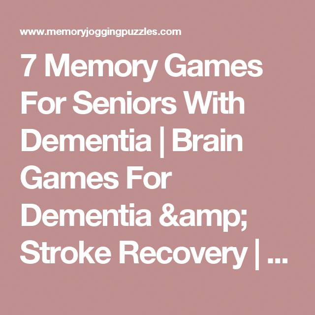 Why exercise Activities for dementia patients, Memory