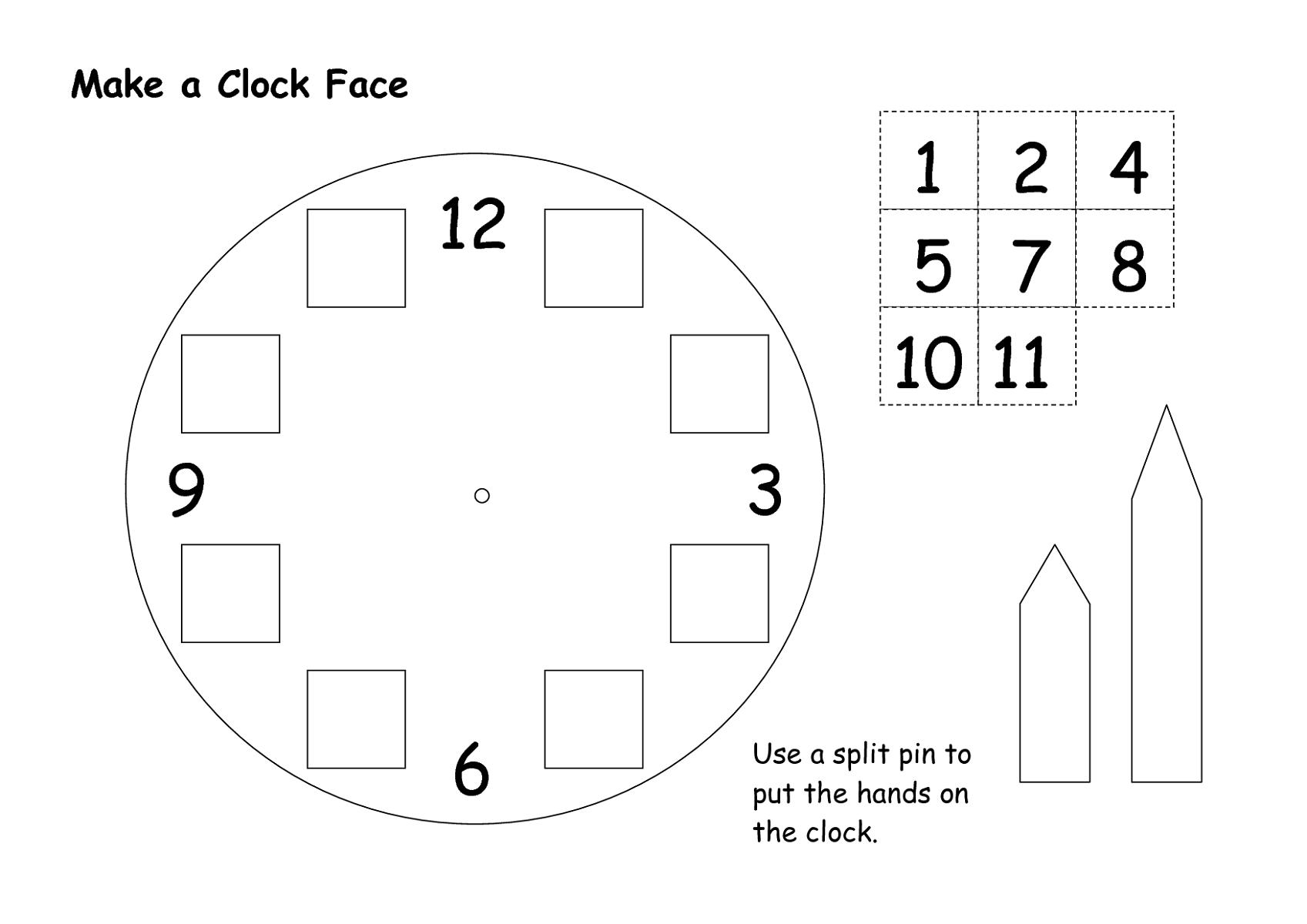 clock face templates for easy learning kiddo shelter kids worksheets printable pinterest. Black Bedroom Furniture Sets. Home Design Ideas