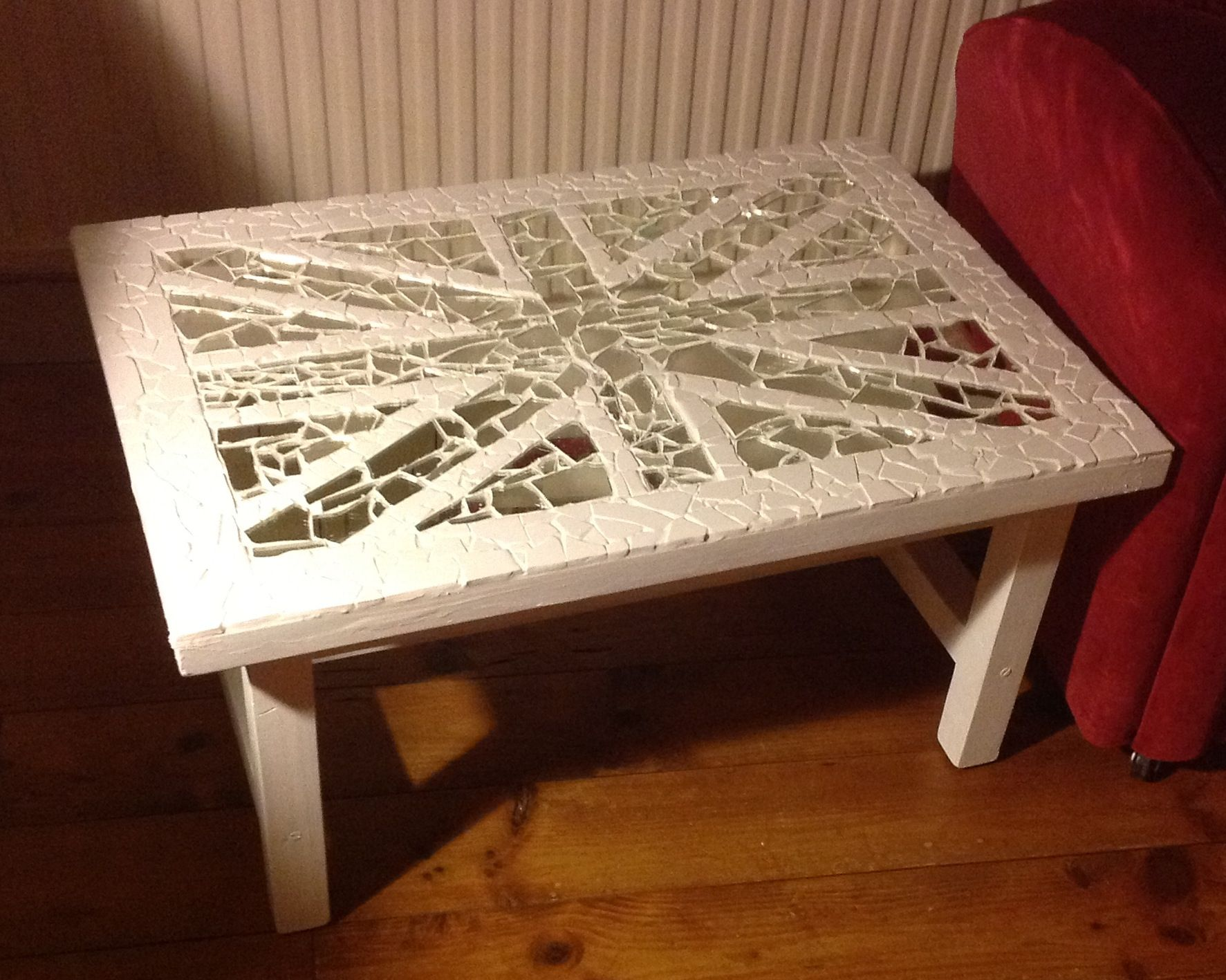 Mirror mosaic coffee table Hobbies Pinterest Mirror mosaic