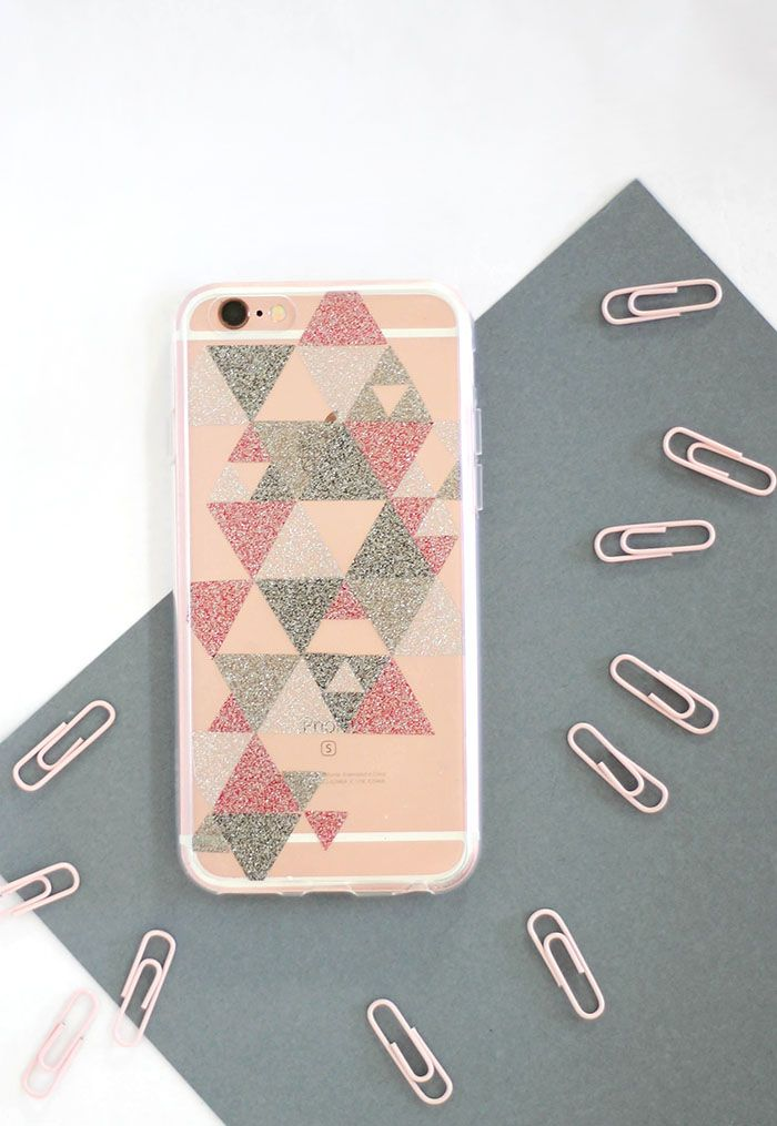 new styles 7eb6a a0c6f Super Simple DIY Glitter Phone Cases | crafts ideas | Diy phone case ...