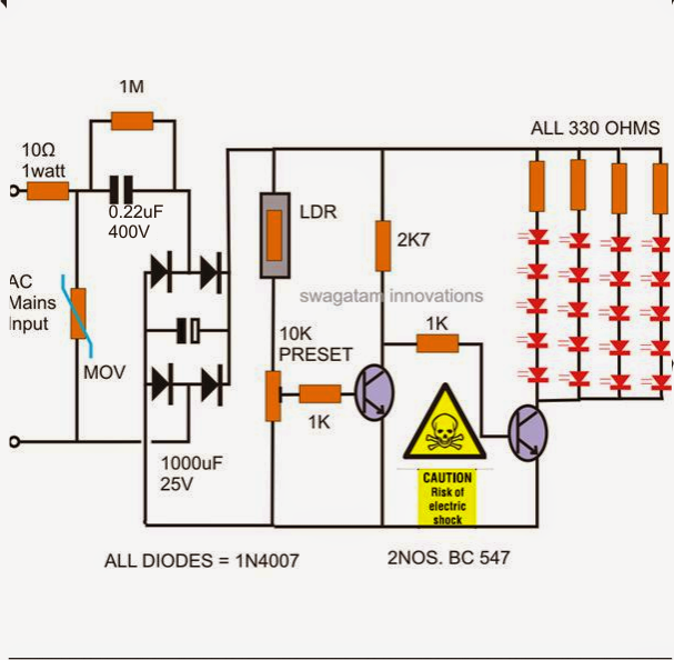 438ffef965de6d0ec8527582672f524d how to make a simple led automatic day night lamp circuit day and night air conditioner wiring diagram at mifinder.co