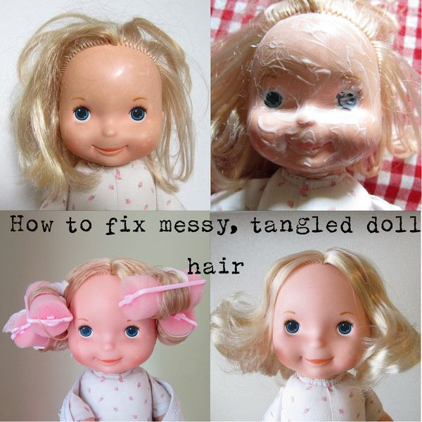 How To Fix Messy Doll Hair And Remove Dirt From Your Favorite Doll Old Barbie Dolls Doll Hair Fix Doll Hair