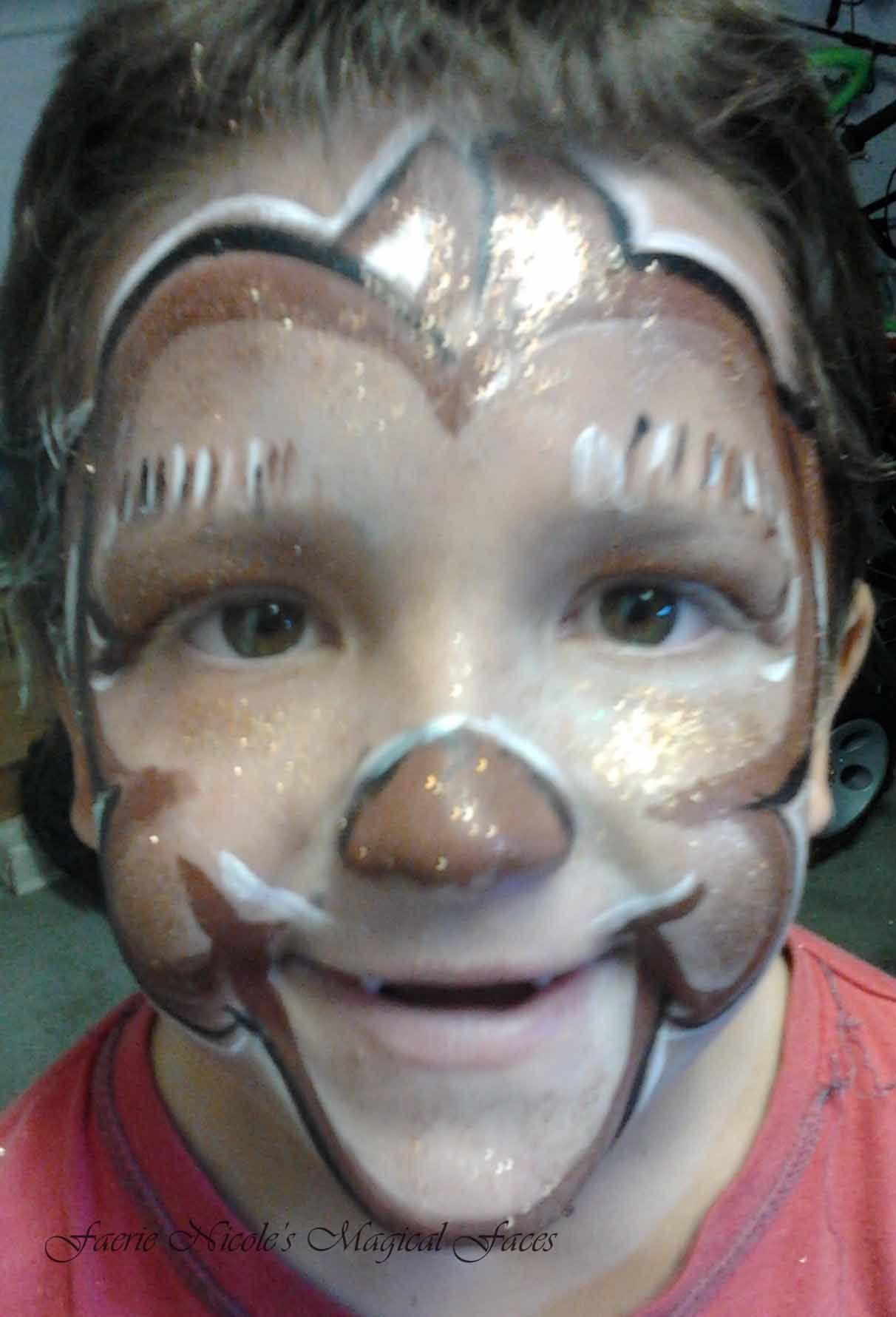 Monkey face design ~ facepainting with Faerie Nicole\'s Magical Faces ...