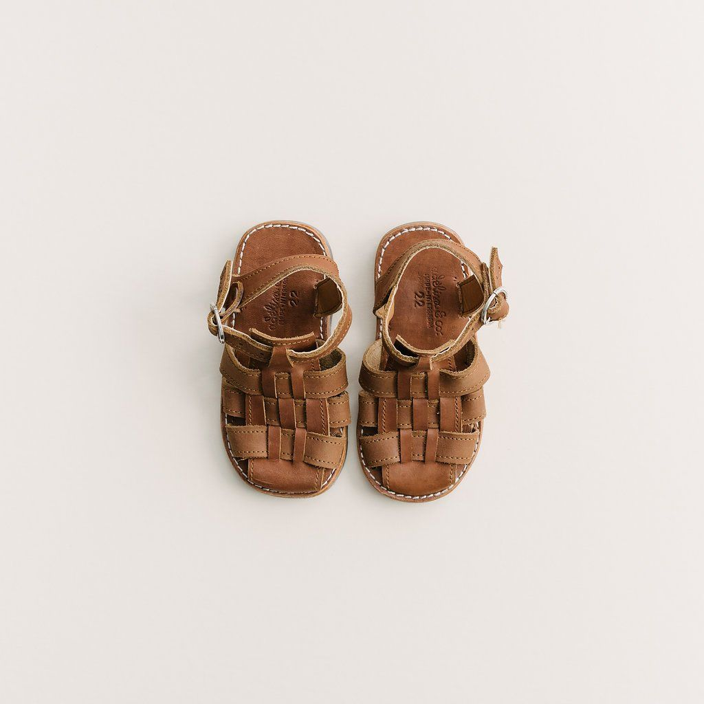 on sale 667b5 8fe75 Brown Genuine Leather Adelisa   Co. Sandal for toddlers and kids. Handmade  in Nicaragua.