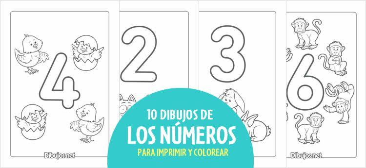 Aprende Los Numeros Del 1 Al 10 Con Estos Dibujos Para Imprimir Y Colorear Dibujos Para Imprimir Del 1 Al 10 Numero Para Colorear