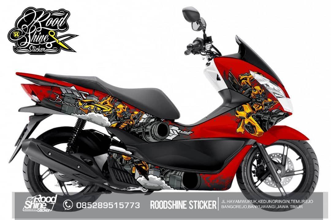 Pcx Bumblebee Pcx Pcx150 Pcxmodifikasi Decalpcx Mobil