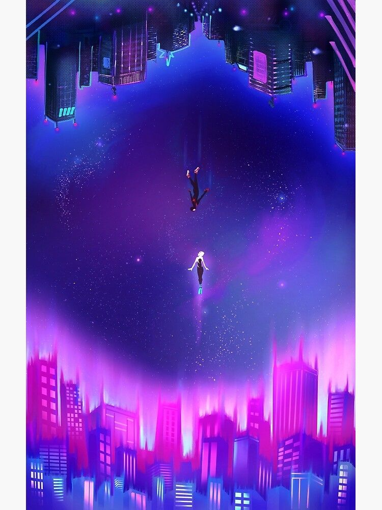 Spider-verse Gwen And Miles Piece Poster by caastles