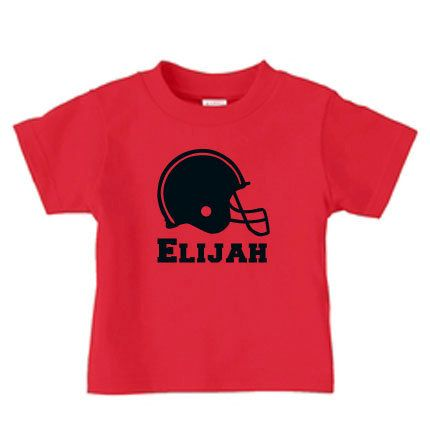 Personalized football helmet t-shirt for boys by PricelessKids