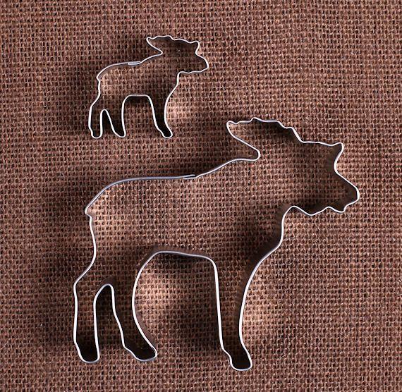 Moose Cookie Cutters Set