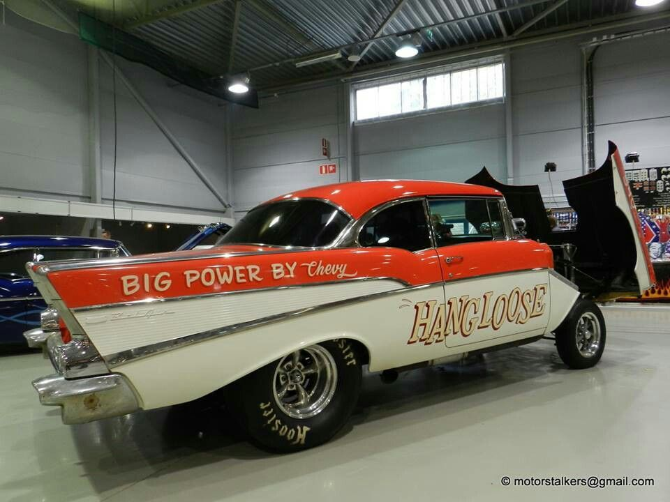 Hang Loose '57 Chevy* Chevy, Classic cars trucks, Hot