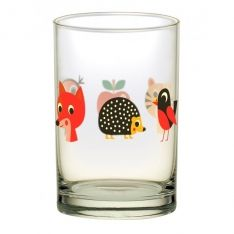Glas 1 Motiv Fuchs Igel Tiger by Ingela P. Arrhenius für