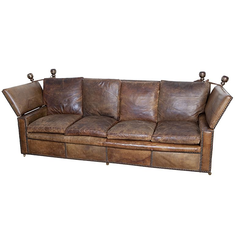 1stdibs Leather Knole Sofa With